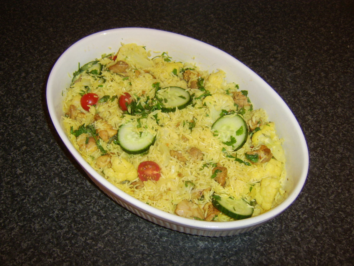 A biryani spice mixture adds a subtle infusion of flavour to this chicken and rice casserole