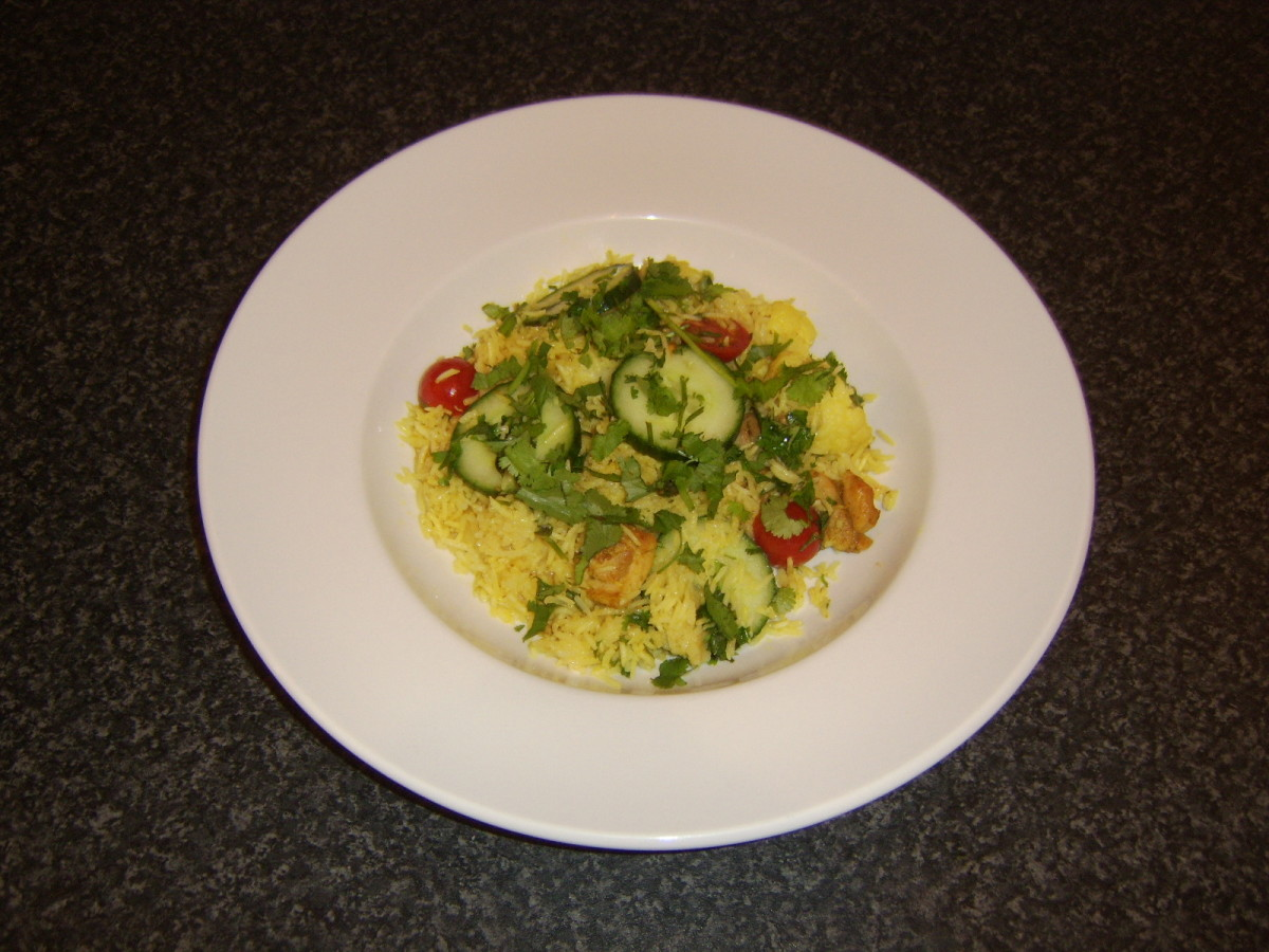 Chicken and rice casserole with biryani spices is one of the recipes featured on this page