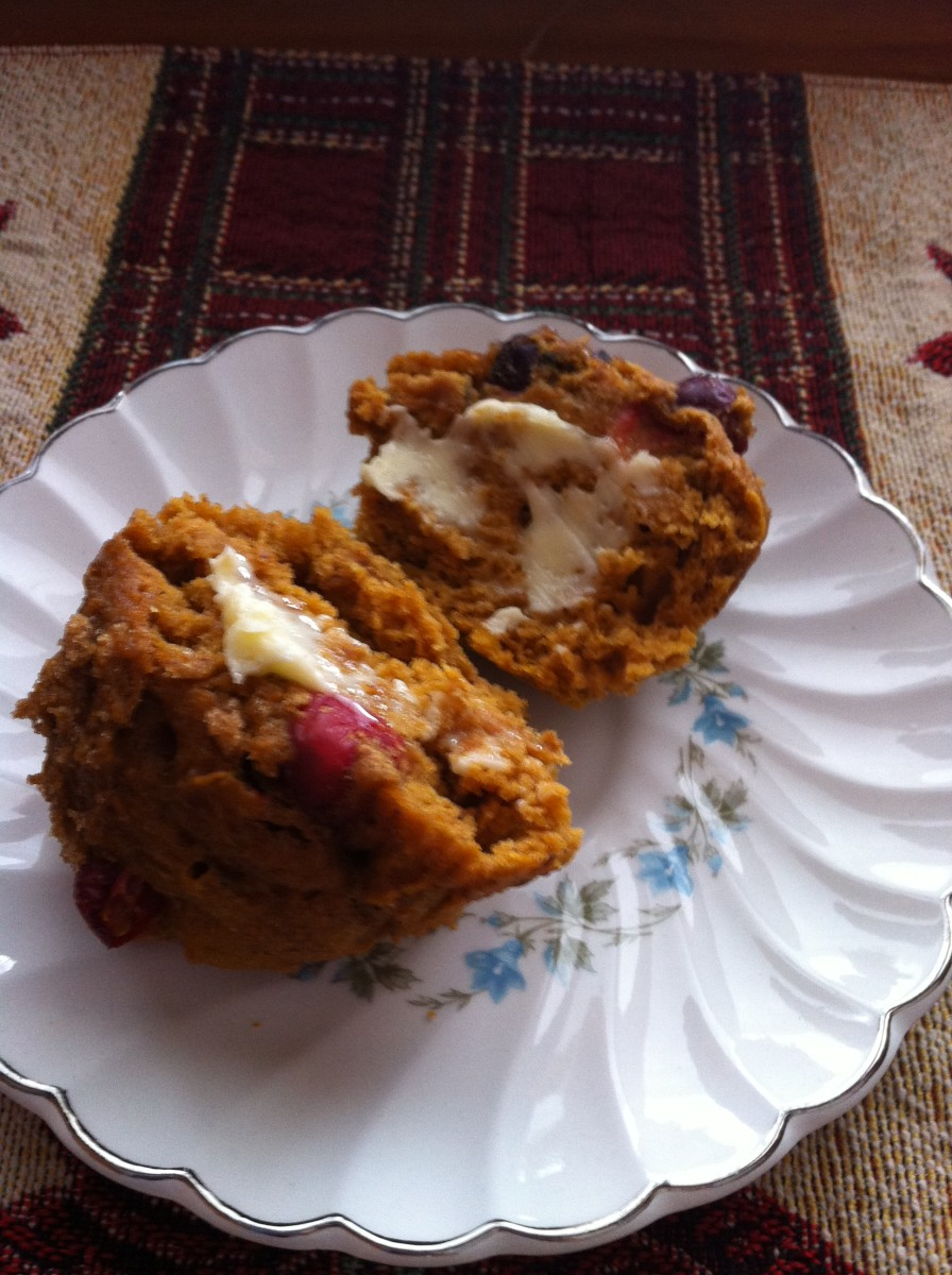 Pumpkin cranberry muffin.