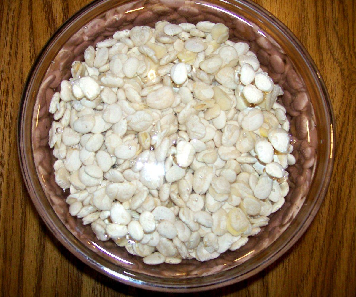 Soak lima beans overnight.