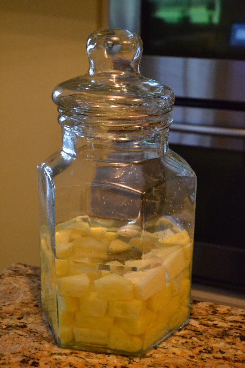 Steps 3 and 4: Cover the jar, stow it away in a safe place and allow the vodka to steep about 10 days to two weeks.
