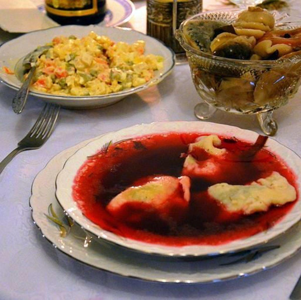 Borscht With Dumplings: The subtle flavor of dumplings enhances the taste and adds texture to a flavorful soup.