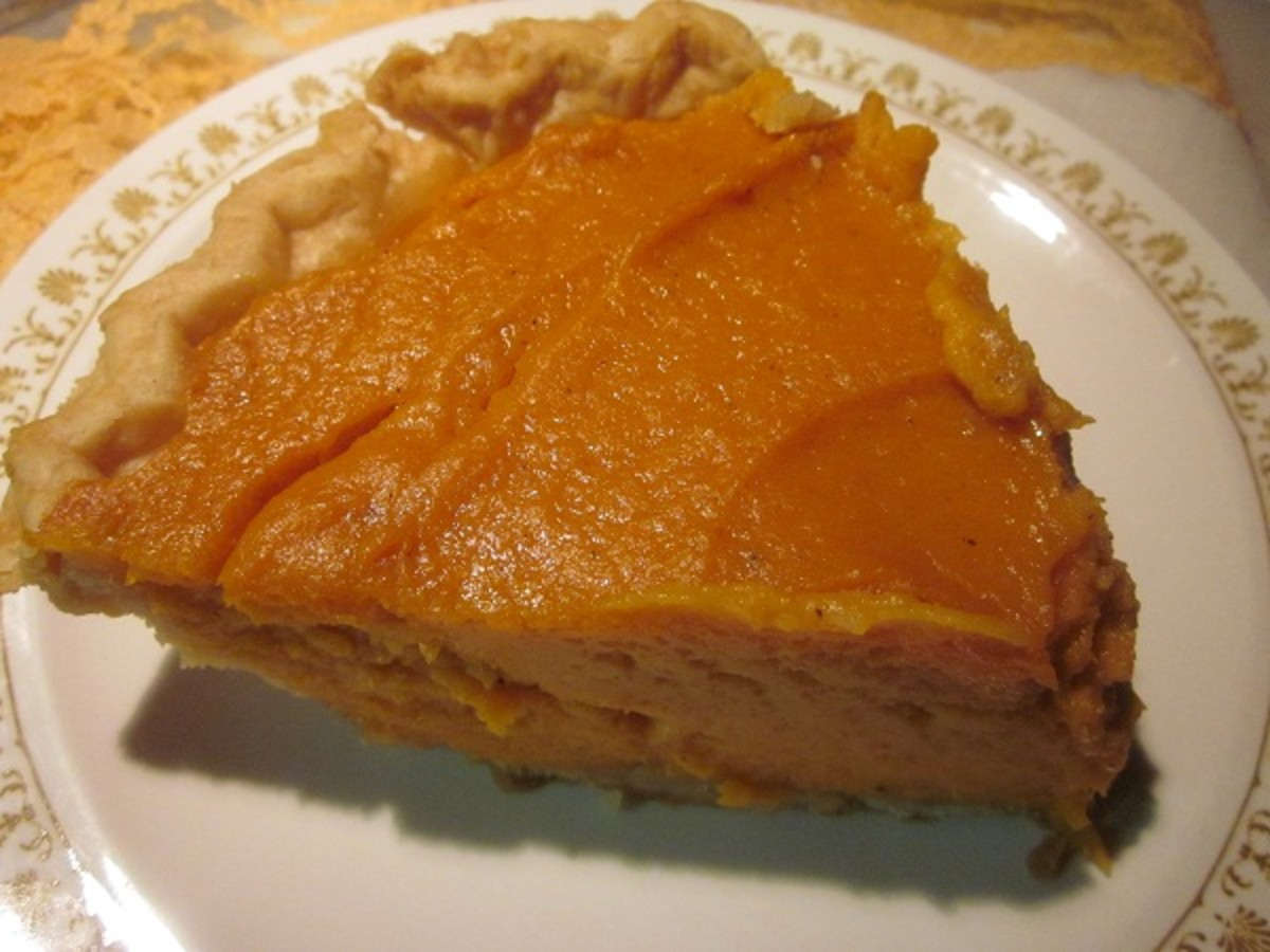 Sweet potato pie ready
