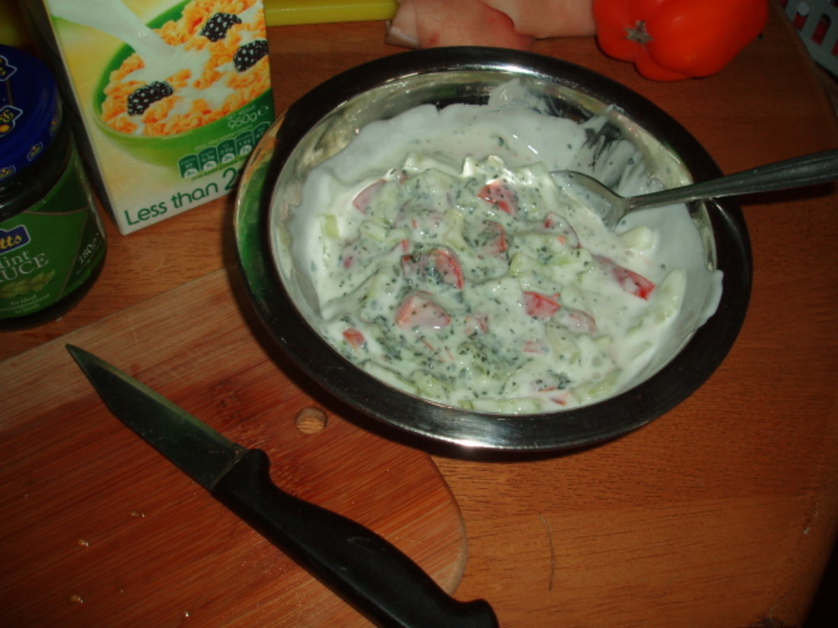 Raita, the perfect accompaniment to any curry.