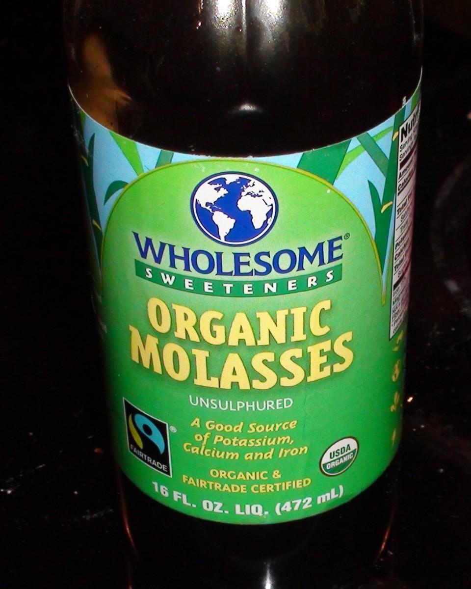 Organic unsulfured molasses.
