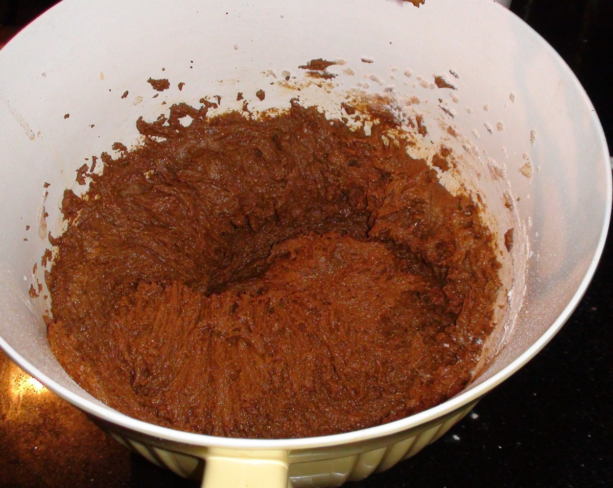 The finished batter should be more like a cake or brownie batter than cookie dough. It will thicken and harden in the fridge.