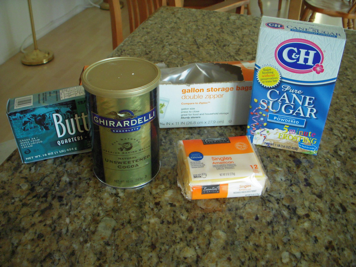 Ingredients and materials for armpit fudge.