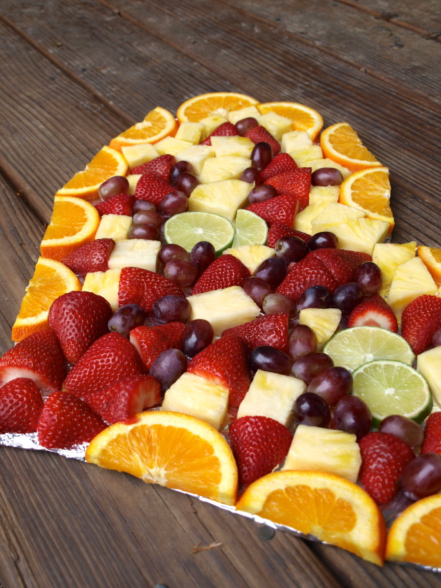 Shaped fruit platters, perfect for any party.
