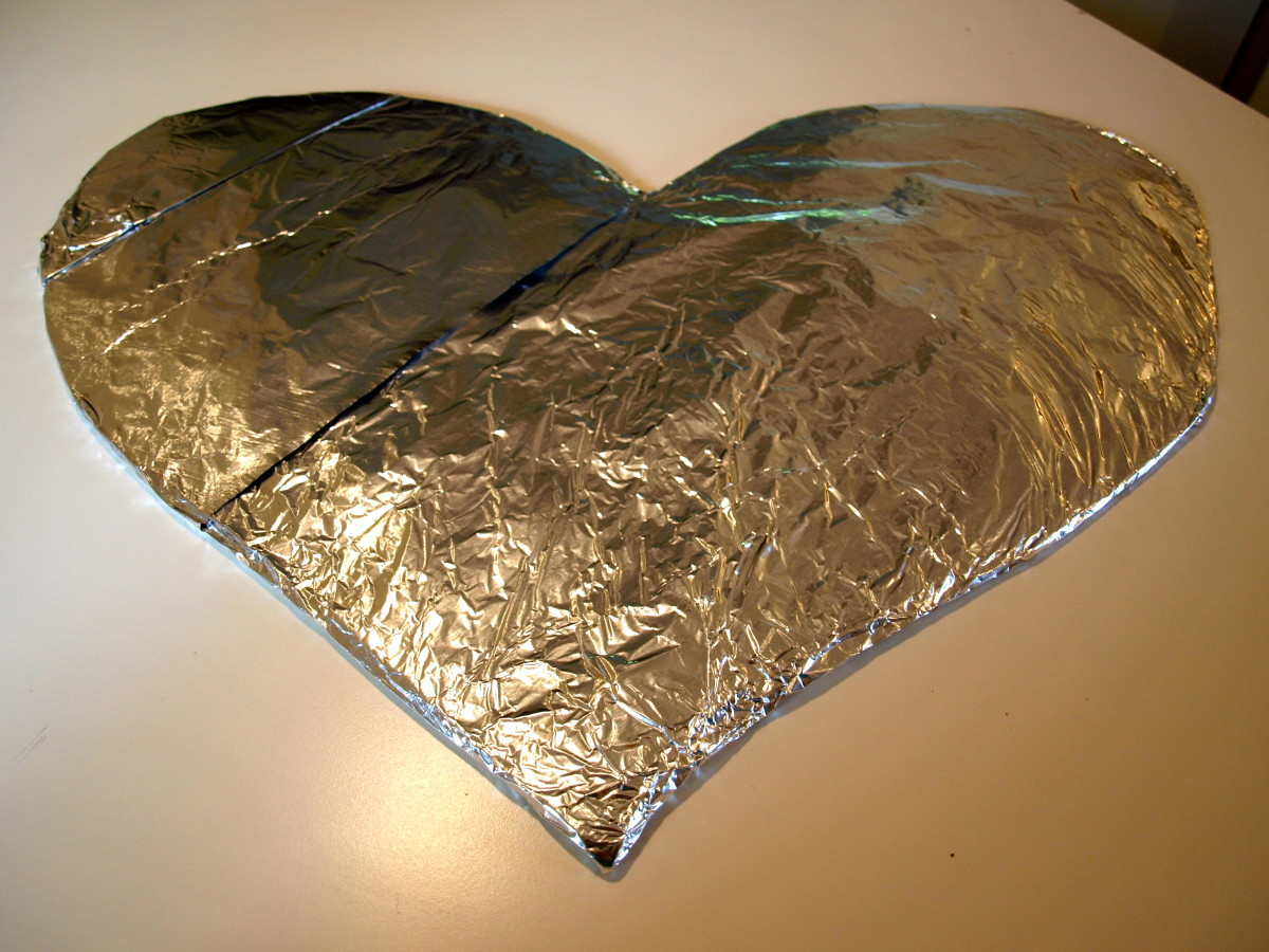 Foil covered cardboard ready for fruit!