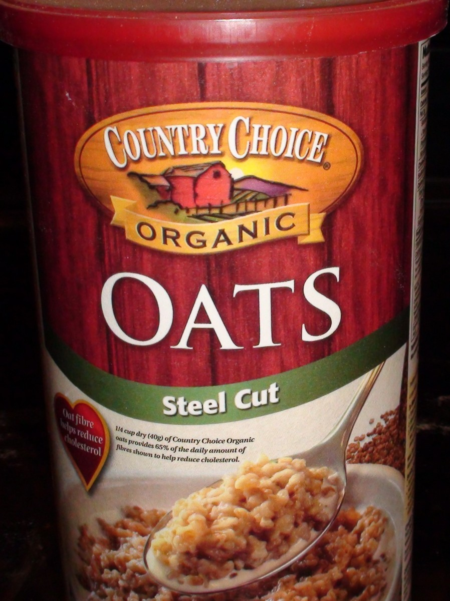 Organic Steel Cut Oats. I use the raw and unprocessed variety but there are tons available on the market.