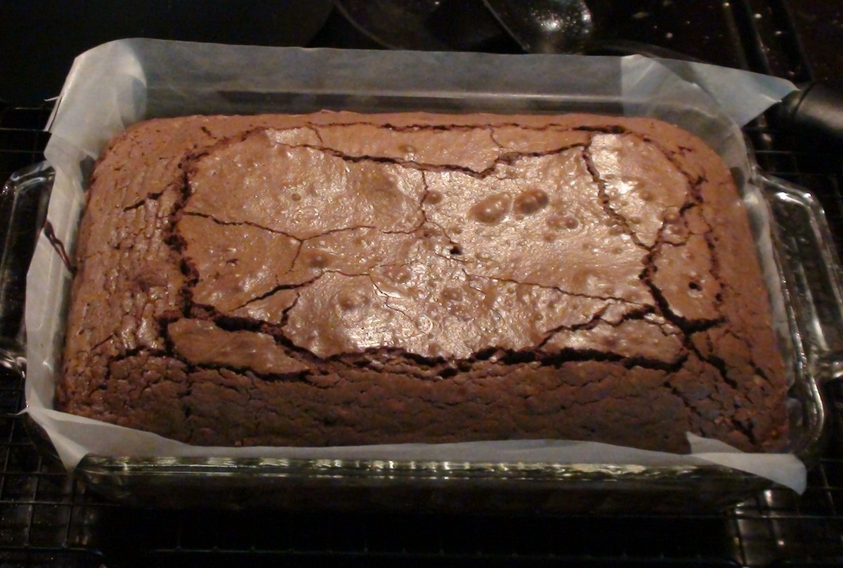 Finished brownies! Once they've cooled for 5 minutes move  them to a cooling rack quickly by pulling opposite, diagonal, corners.