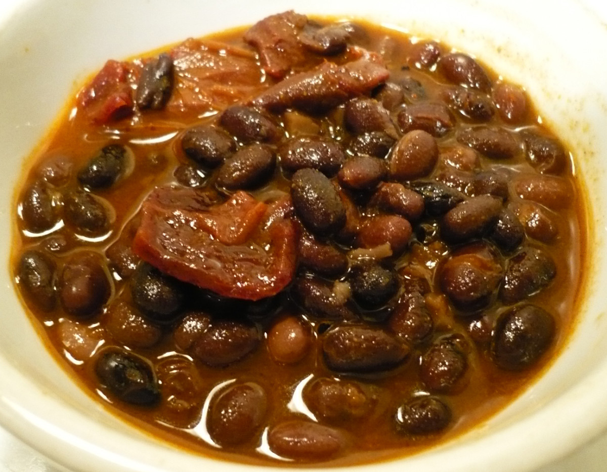 Black-bean stew.