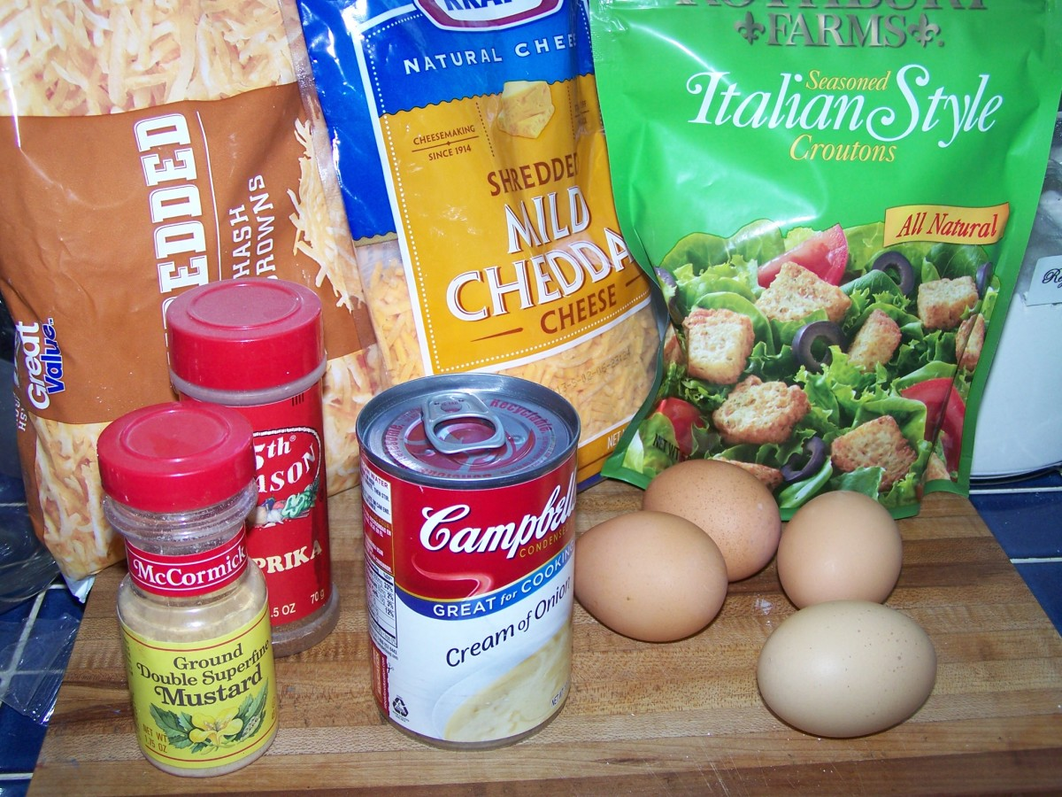 The ingredients for the casserole.