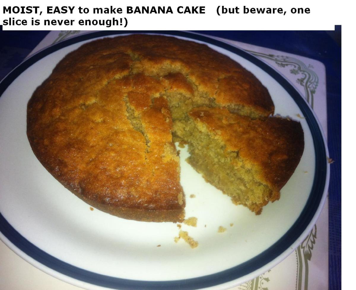 The Easy-to-Make, Moist Banana Cake Recipe