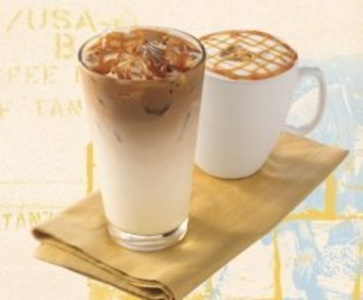 Iced or hot choices of caramel deliciousness.