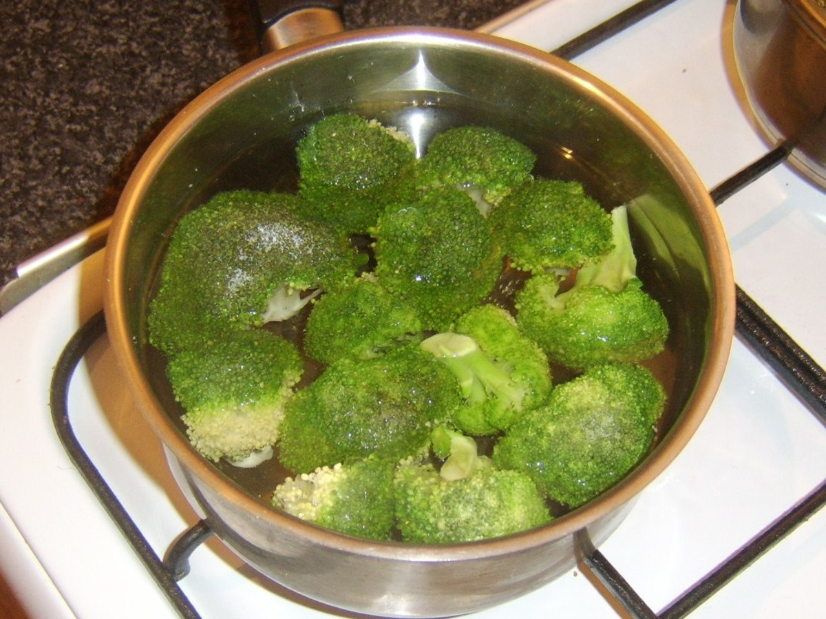 Poaching broccoli
