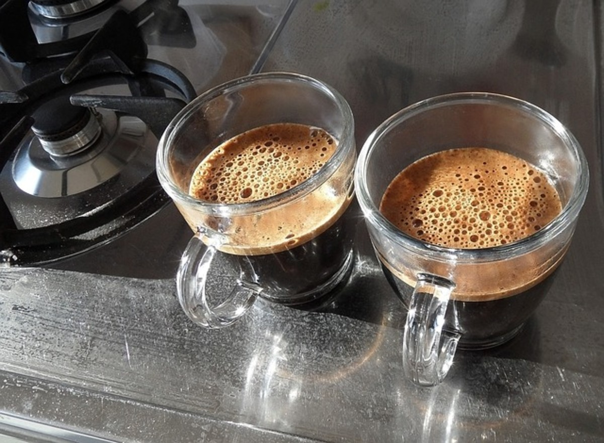 A good cup of espresso is topped by a good layer of creme (foam).