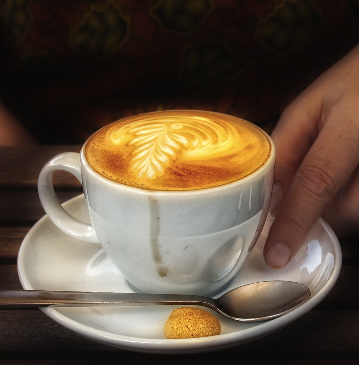 A cappuccino is equal volumes espresso, milk and foam.