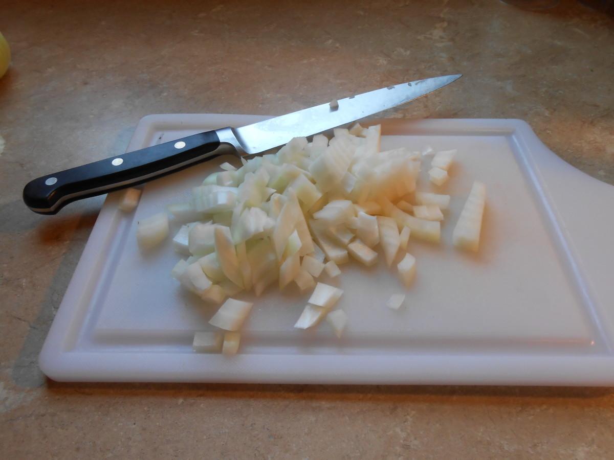 Sautéed onion adds classic flavor to Spanish rice.