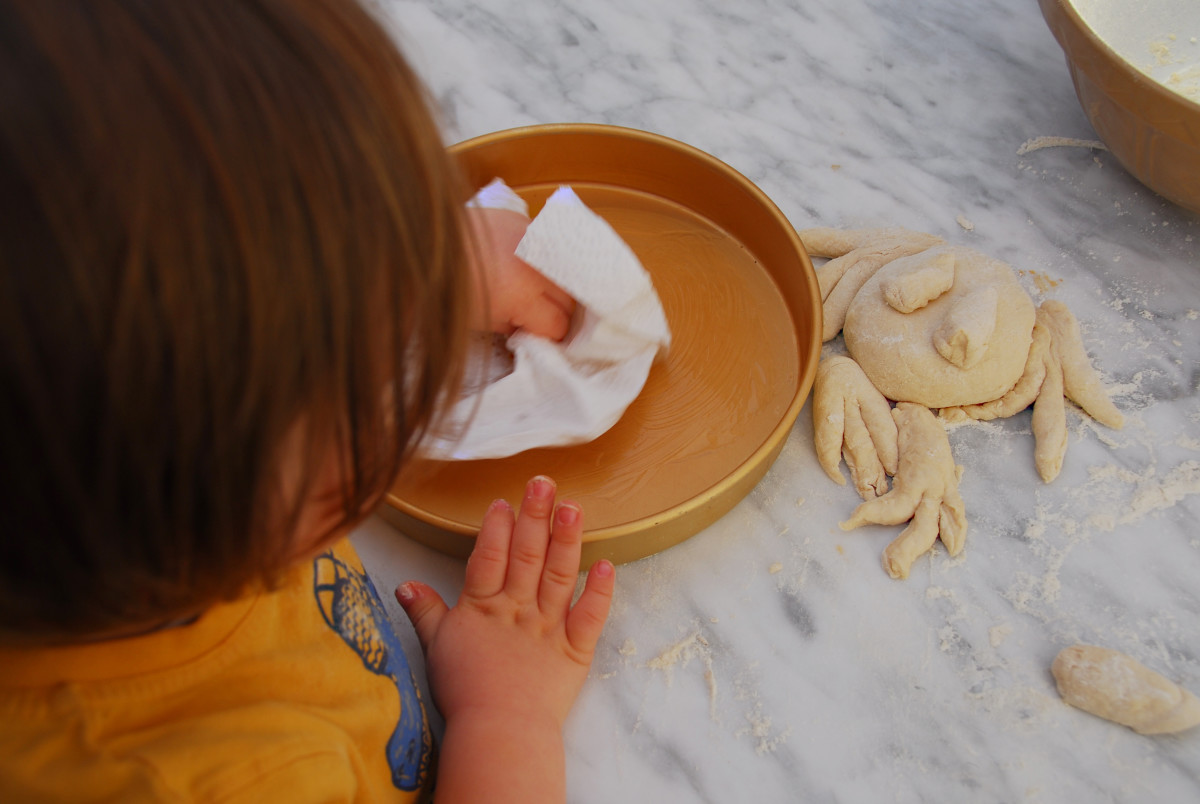 Greasing the pan