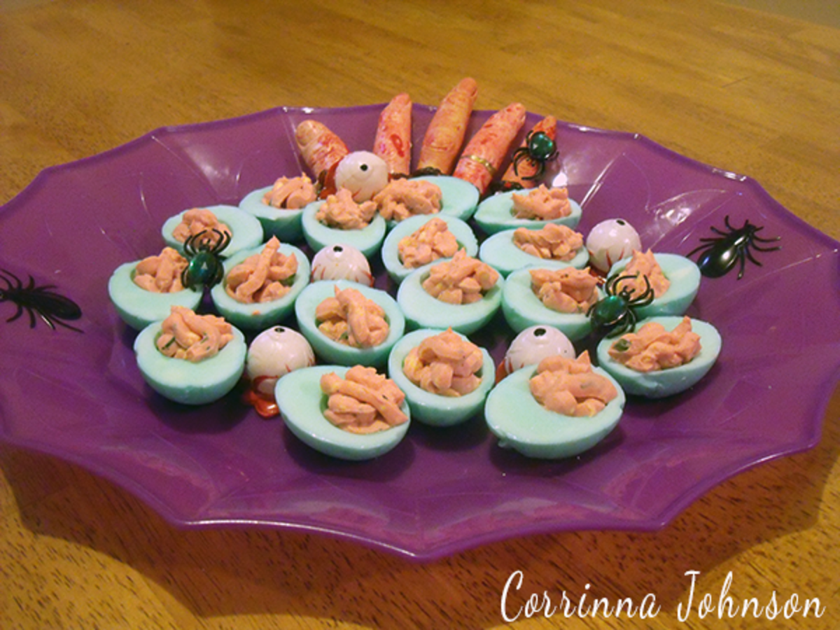 Halloween Deviled Eggs Perfect For A Zombie Themed Party