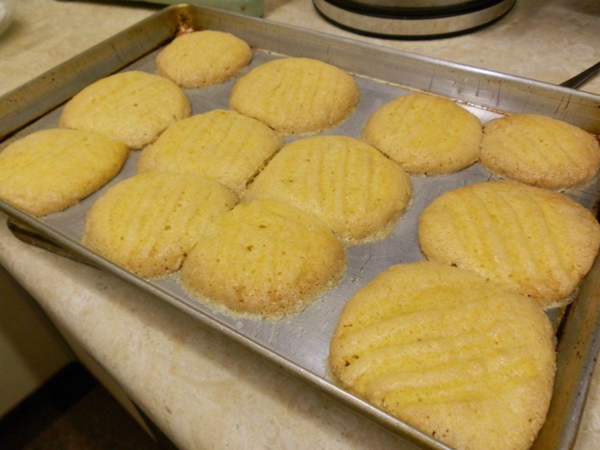 Fork cookies spread, so keep them well apart from each other.