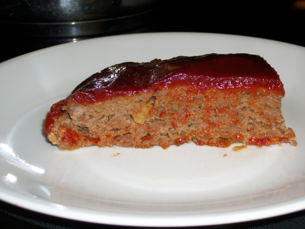 Meatloaf made with Lipton Onion Soup Mix- our family favorite