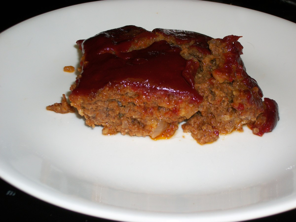Manwich sauce is used in the meatloaf, and as the topping