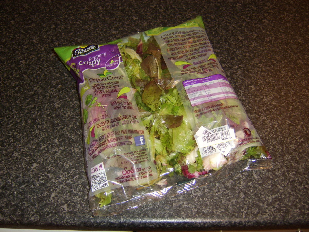 Bag of mixed salad leaves