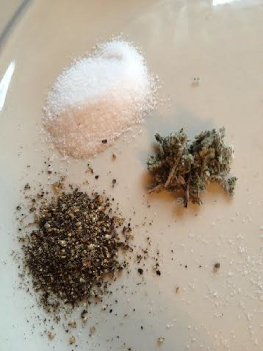 Salt, pepper and sage.