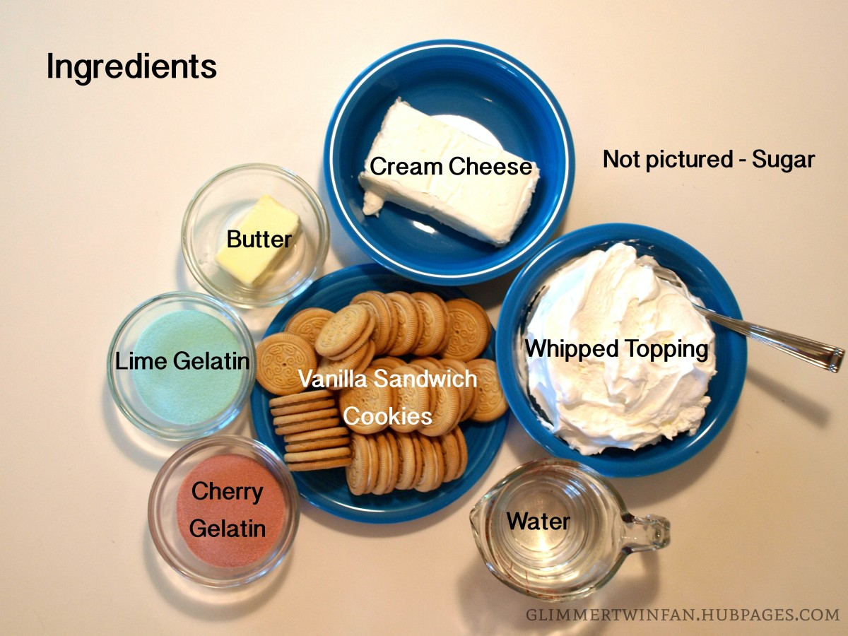 All the ingredients you'll need to make this dessert.