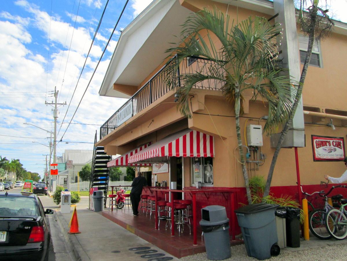 Sandy's Cafe, street-side