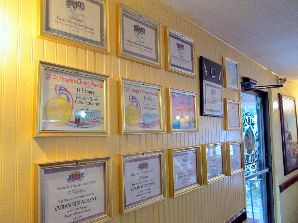 "El Siboney's ""wall of fame"""
