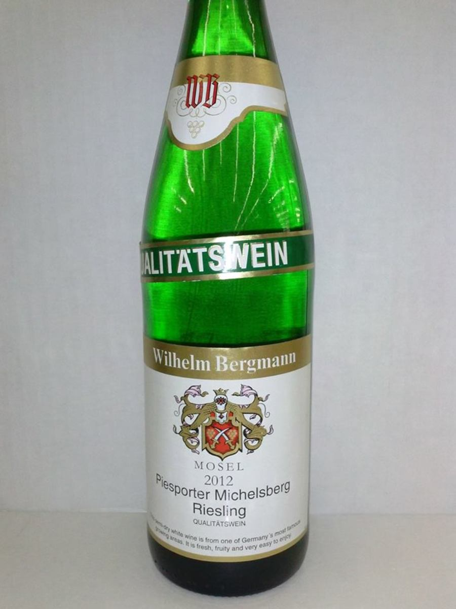 A typical German Riesling. Try it next to a Washington or California riesling for the best comparison.