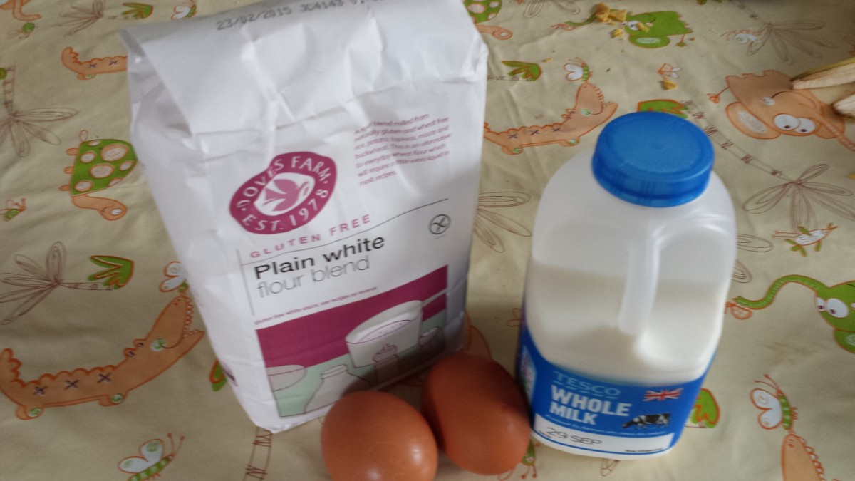 Delicious Yorkshire puddings can be made using these simple ingredients.