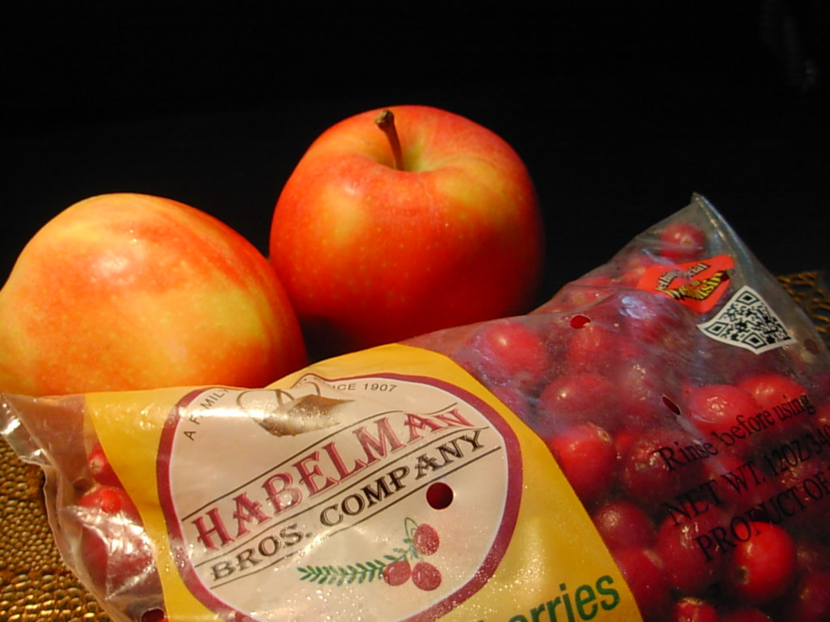 Apples and cranberries go together perfectly.