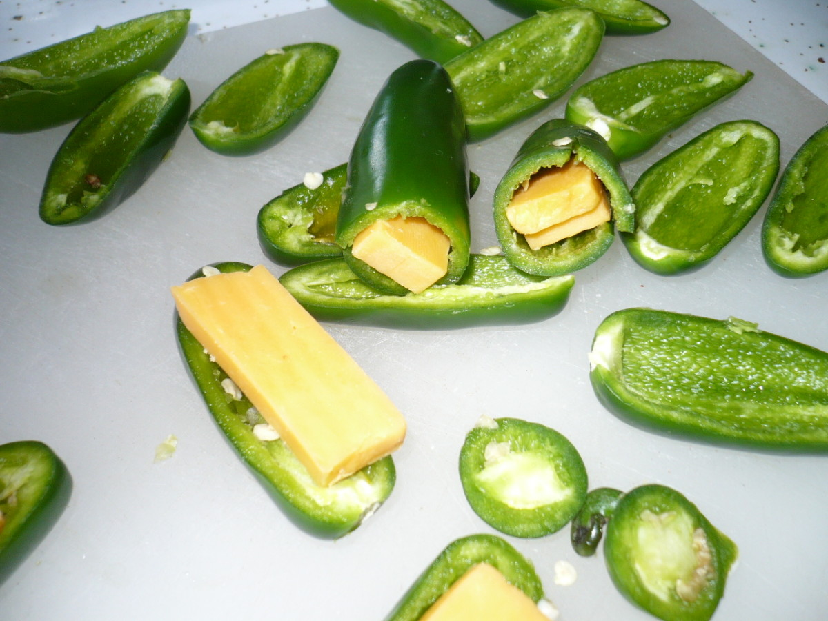 See the different ways the peppers were filled with cheese