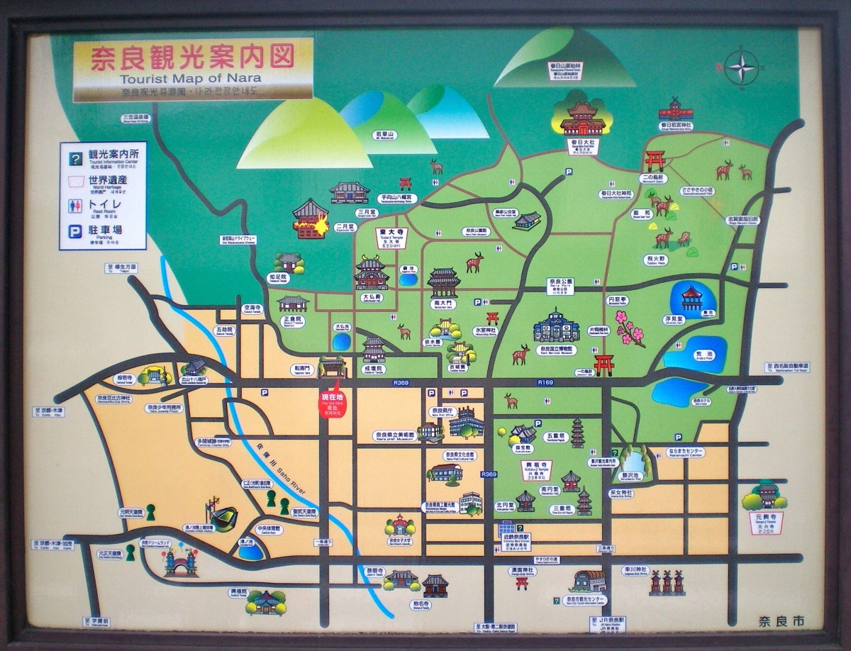 world's best tourist map, Nara (c) A Harrison