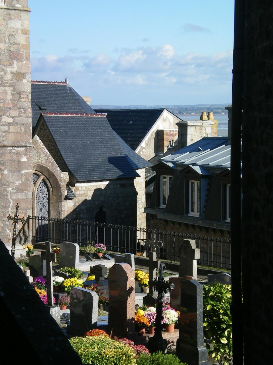 A hidden graveyard, Mont St Michel (c) A. Harrison