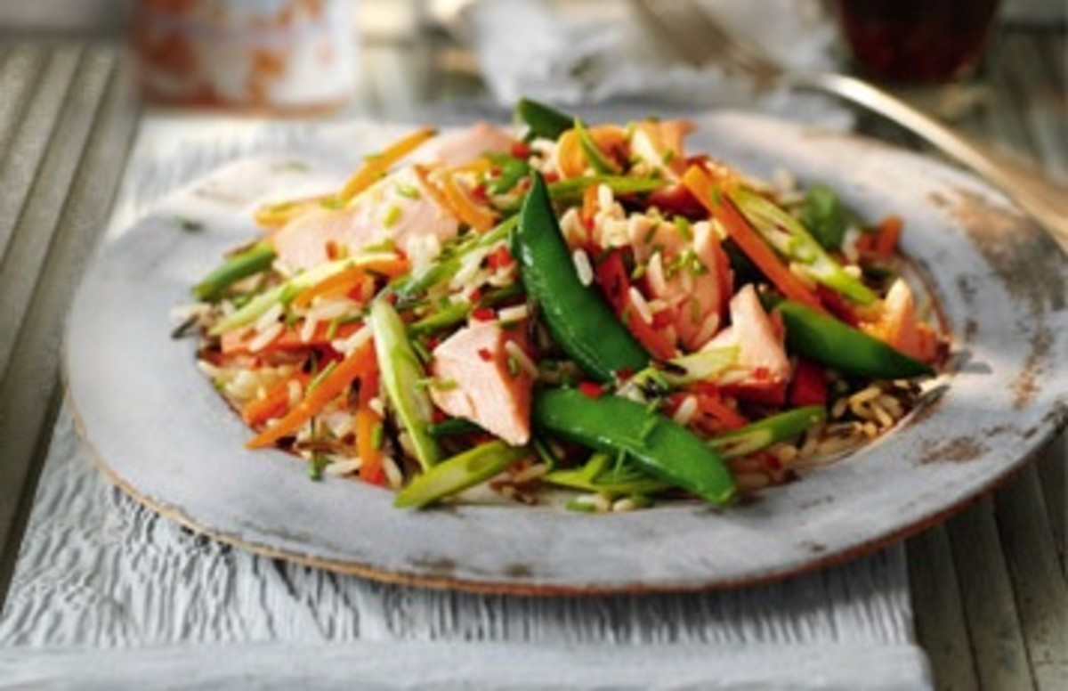 Syn-Free Slimming World Salmon and Wild Rice Salad