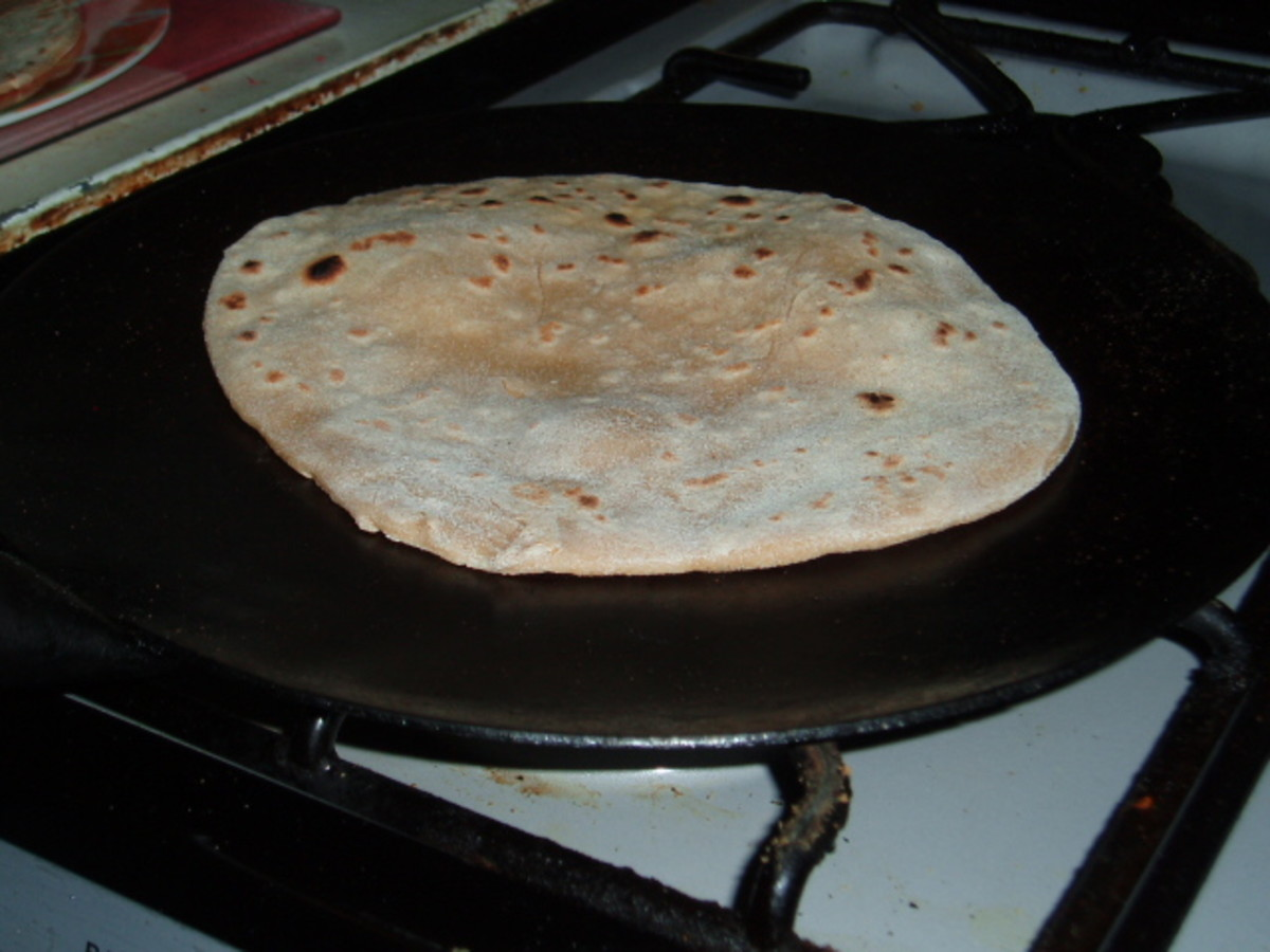 chapatis - fill them with the prawns