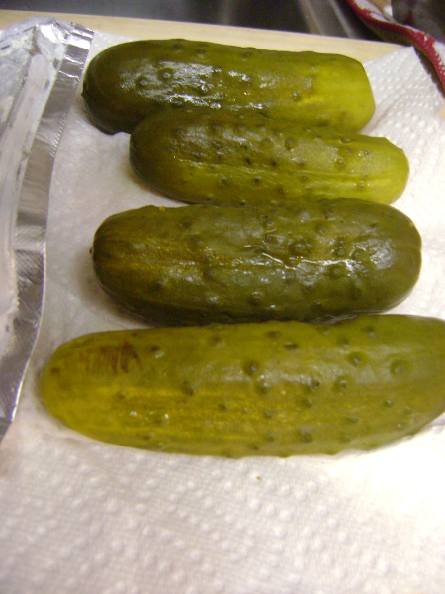 The pickles need to be completely dry. This helps them stick to the cream cheese.