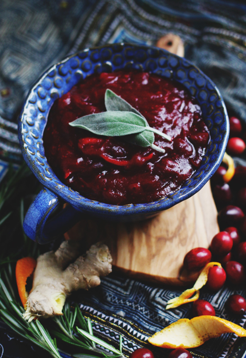 Rosemary citrus ginger cranberry sauce