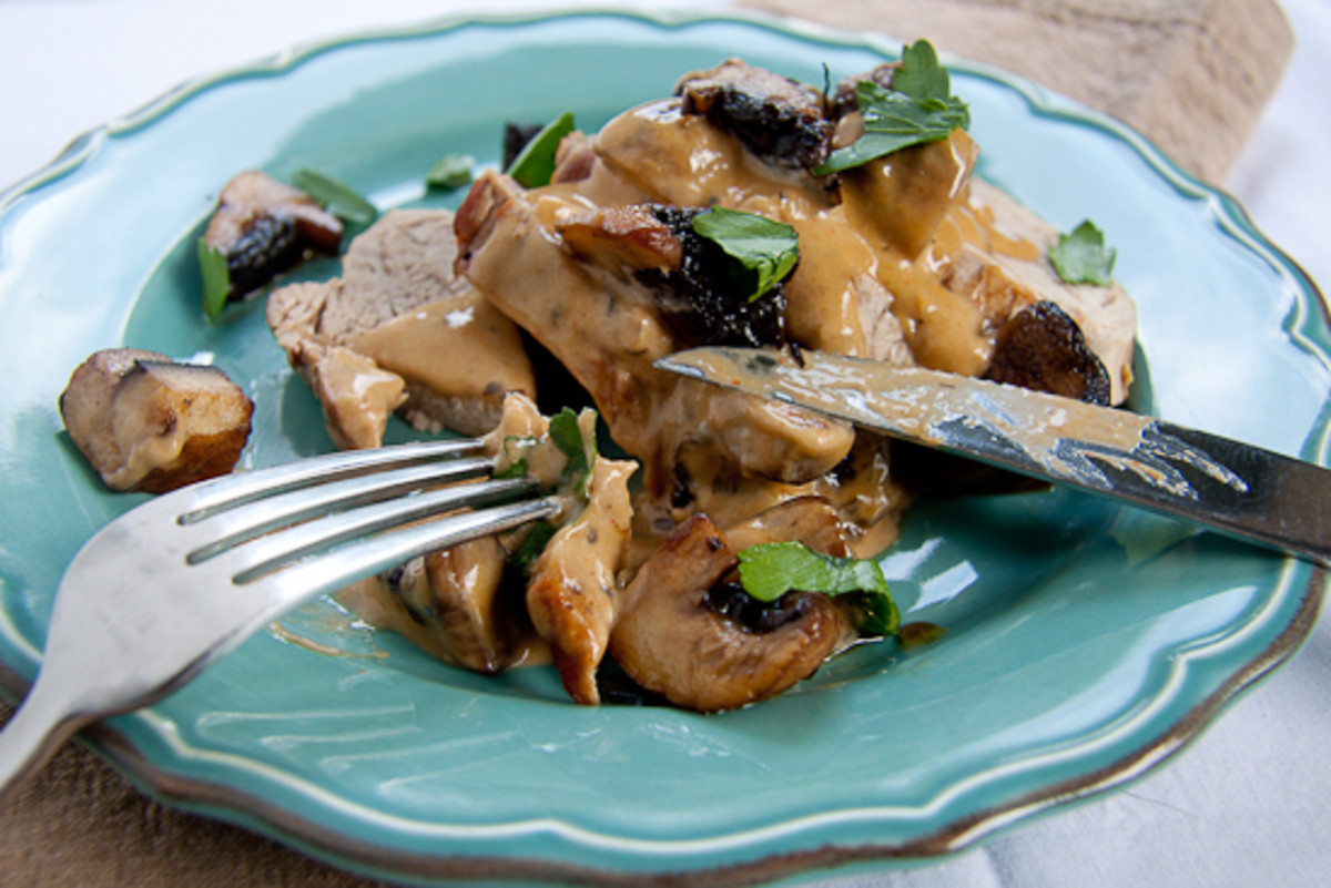 Syn Free Slimming World Pork Tenderloin with Creamy Mushrooms