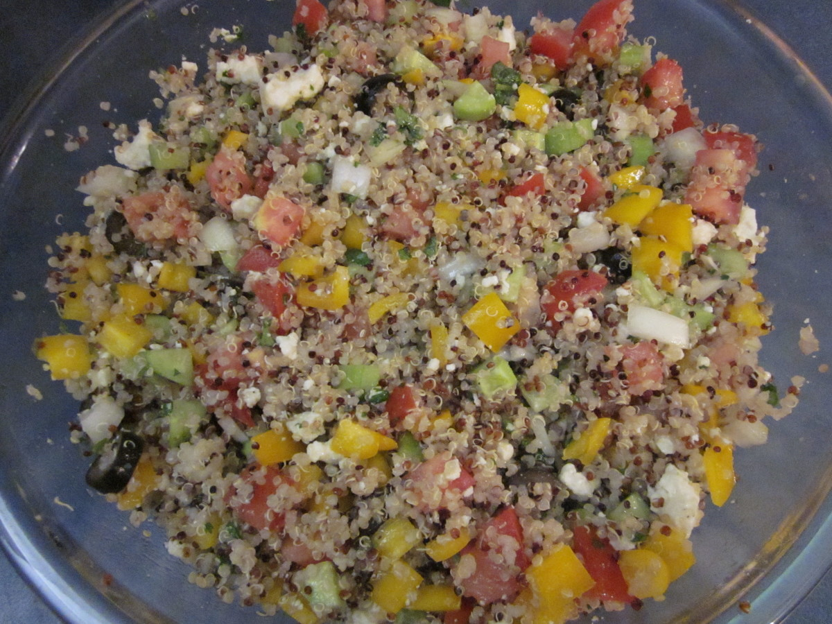 The completed salad.