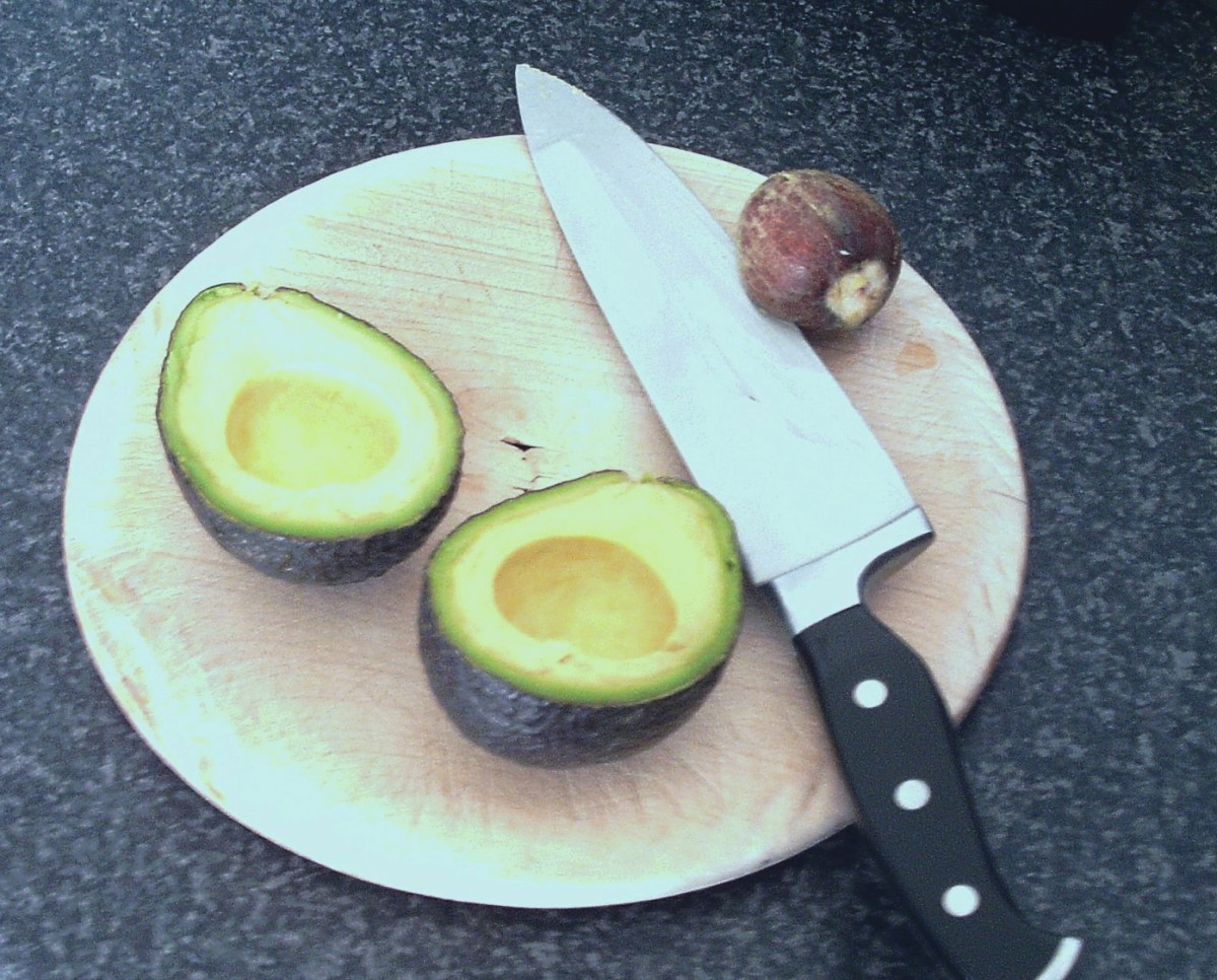 Stone removed from avocado