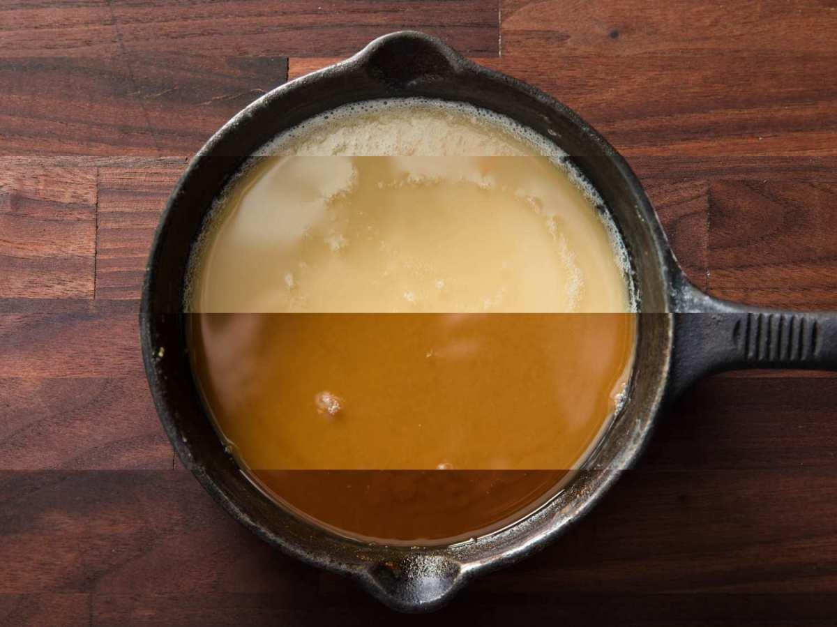 The 4 stages of roux (white thru dark brown)