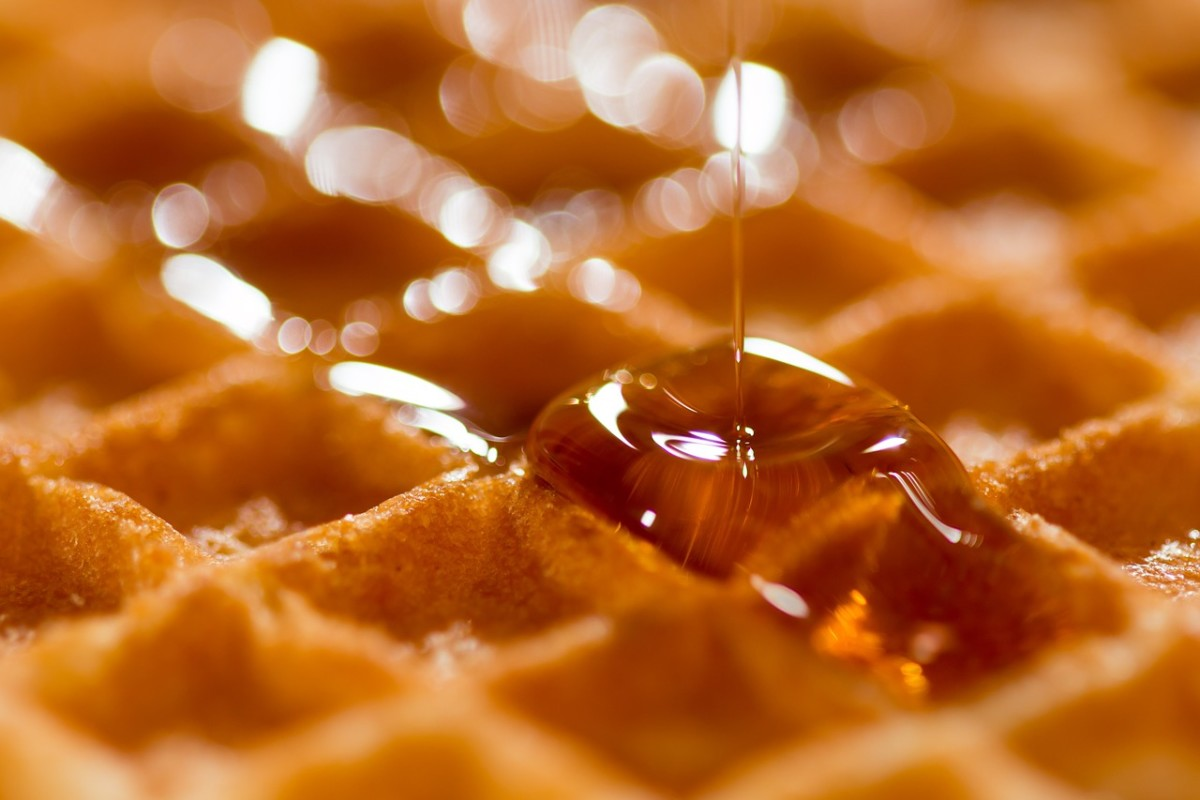 The beauty of a waffle!