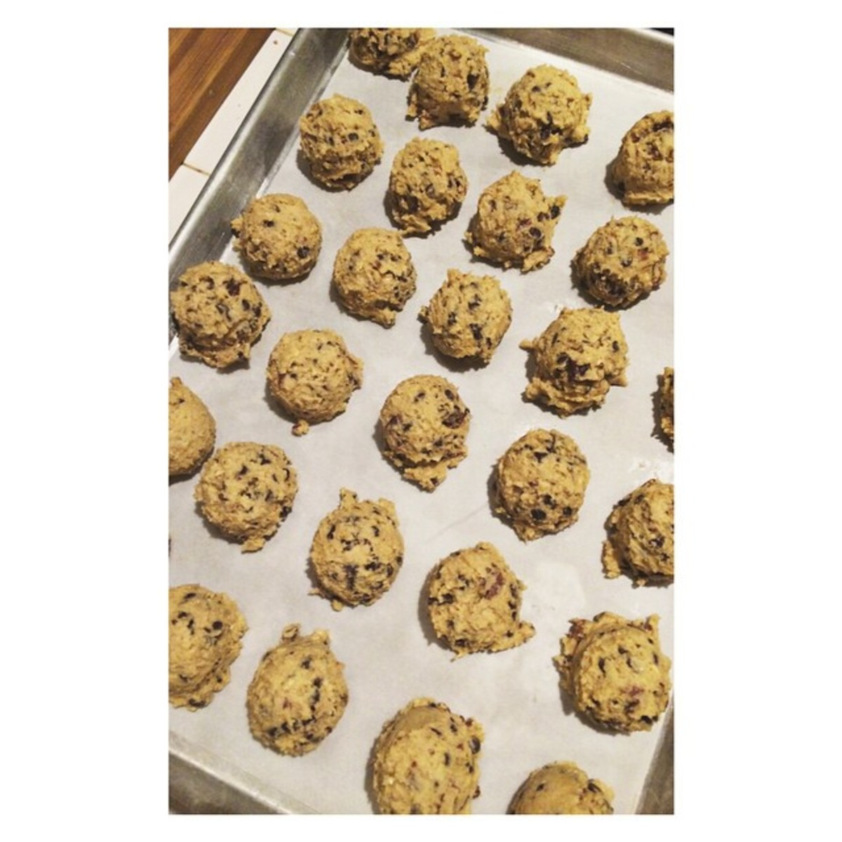 Always place cookies on parchment paper to avoid burnt cookies.
