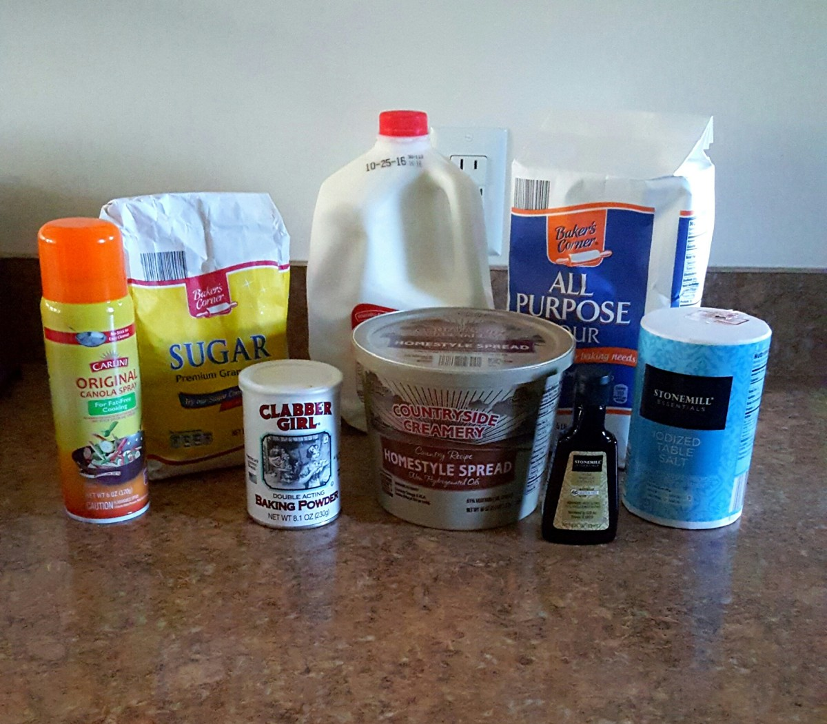 All you need for delicious sugar cookies.